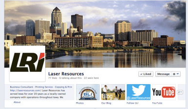 laser resources facebook page freaky fresh marketing