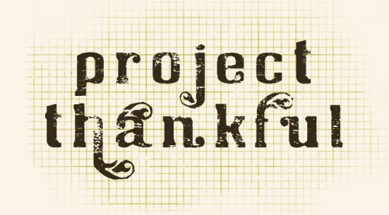 project thankful thanksgiving