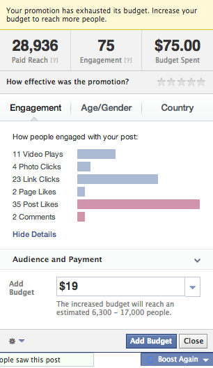 facebook boost analytics roi