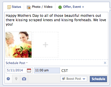 mothers day facebook post