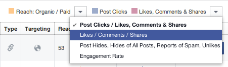 As you can see in the 3rd column, the 3 most recent posts were photo posts, followed by a link post and a status post.