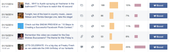 insights facebook posts engagement rate