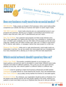 social media frequently asked questions marketing iowa