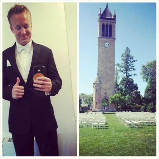 Iowa State University Campanile Wedding